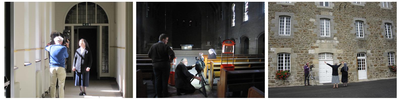"Filmopnames voor de documentaire ""Adieu aux Sœurs"". (foto: Stichting Behoud Franse Klooster)"