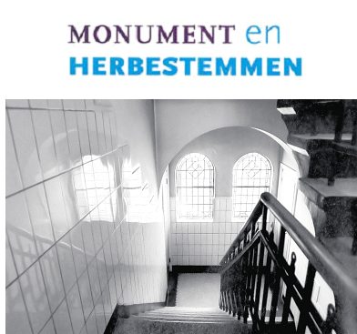 Monumentaal trappenhuis in het Franse Klooster te Sittard.