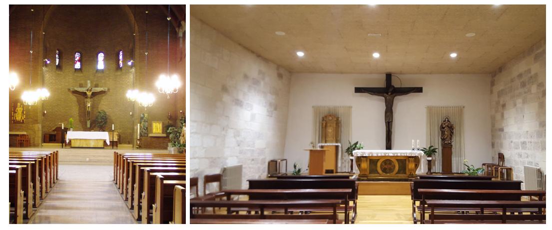 Het kruis in de Kapel van het Franse Klooster. Het kruis heeft een nieuwe bestemming gekregen in de dagkapel van het klooster Monasterio de Santa María de Iranzu (in Spanje).