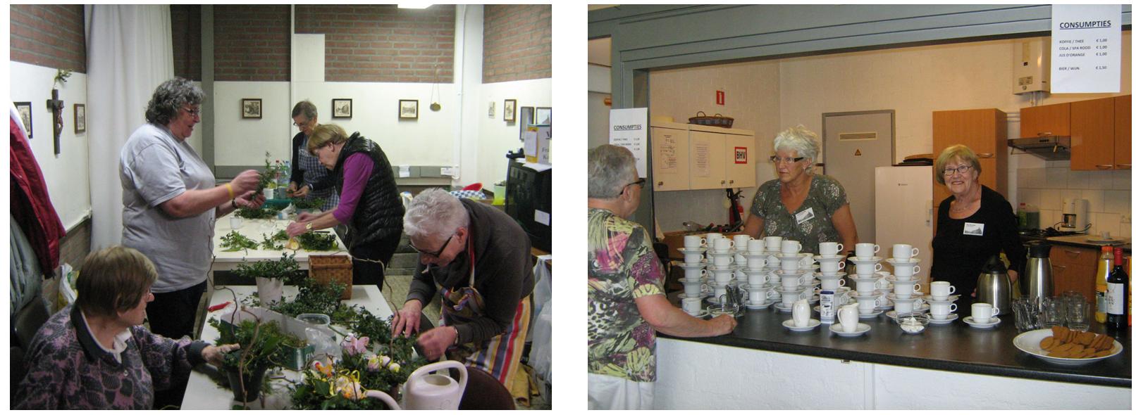 Vrijwilligers aan het werk! (foto: Stichting Behoud Franse Klooster)